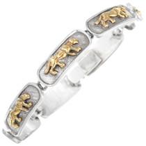Sterling Silver Gold Puma Tennis Bracelet 41536