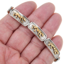Silver Gold Jaguar Link Bracelet 41536