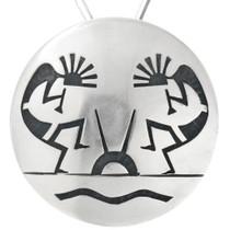 Vintage Hopi Sterling Silver Kokopelli Pendant 41543
