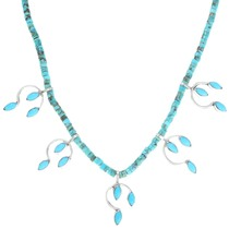 Delicate Sterling Silver Turquoise Ladies Necklace 41550