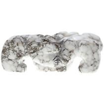 Native American Bear Fetish Carved Alabaster Tabletop Sculpture 0030