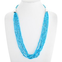 Navajo Five Strand Natural Turquoise Necklace 41556