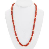 Mediterranean Coral Gold Native American Necklace 41558
