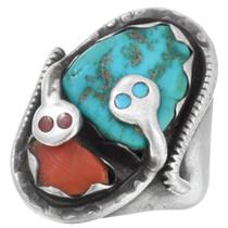 Old Pawn Zuni Turquoise Effie Calavaza Ring 41572