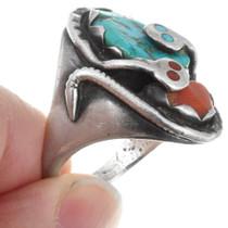 Natural Turquoise Zuni Snake Ring 41572