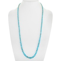Blue Turquoise Gold Beaded Necklace 41581
