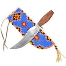Beaded Leather Native American Knife Sheath 41589
