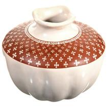 Vintage Mata Ortiz Melon Olla Pottery by Carmen Veloz 0320