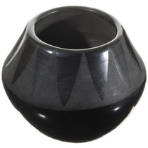 Vintage Santa Clara Blackware Pottery Mid 20th Century 0066