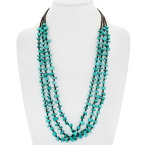 Navajo Turquoise Nugget Beaded Necklace 31767