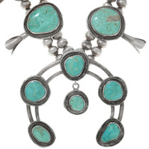 Vintage 1950s Native American Turquoise Necklace 41601