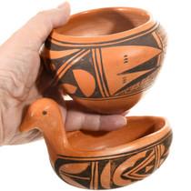 Hopi Bird Bowl Pottery Hand Painted 41608