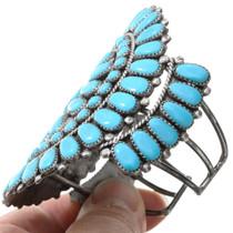 Vintage 1970s Native American Turquoise Cluster Bracelet 41540