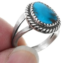 Sterling Silver Turquoise Ladies Rings 41613
