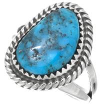 Navajo Ithaca Peak Turquoise Ring 41617