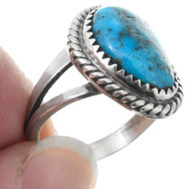 Sterling Silver Blue Turquoise Ring 41617