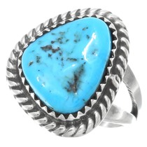 Natural Turquoise Navajo Ring 41618