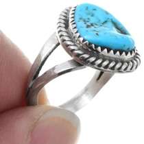 Sterling Silver Natural Arizona Turquoise Ladies Ring 41618