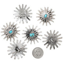 Navajo Made Turquoise Buttons Set of Six 41620