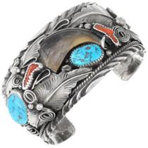 Vintage Turquoise Bear Claw Men's Bracelet 40853