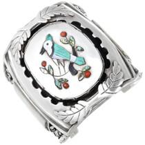 Zuni Turquoise Blue Jay Cuff Bracelet 40100