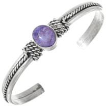 Sterling Silver Amethyst Ladies Bracelet 41631