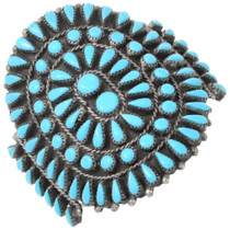 Navajo Cluster Turquoise Cuff Bracelet 41632