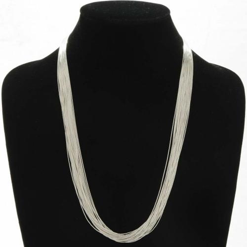 Navajo Liquid Silver Necklace 32635
