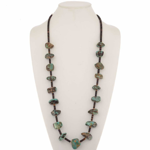 Old Turquoise Nugget Necklace 25618