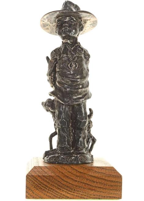 Navajo Boy Hiding Lamb Bronze Sculpture 27240