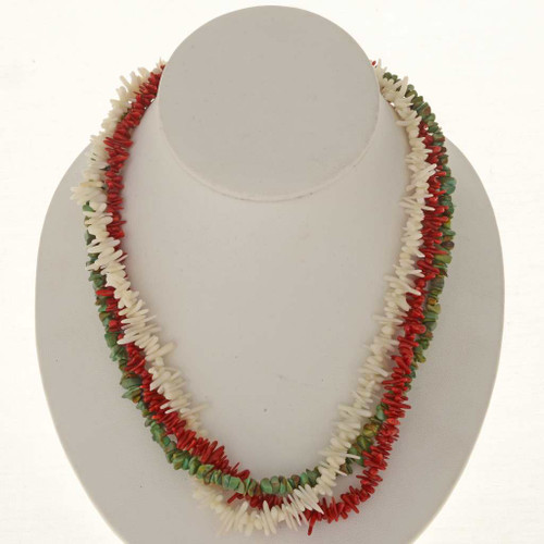 Branch Coral Turquoise Navajo Necklace 25466