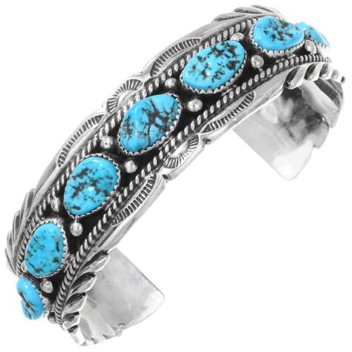 Sleeping Beauty Turquoise Navajo Cuff Bracelet 24721