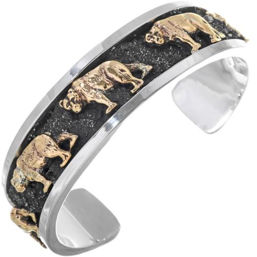 Walking Bear Navajo Cuff Bracelet 25906