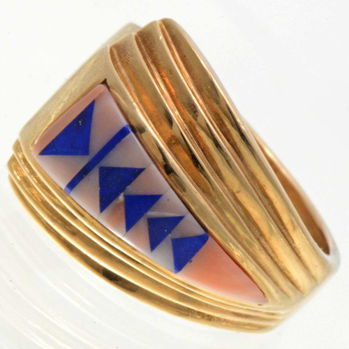Gold Inlaid Native American Ring 25881