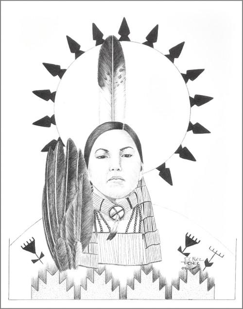 Native American Indian Princess Signed Art Print 17213