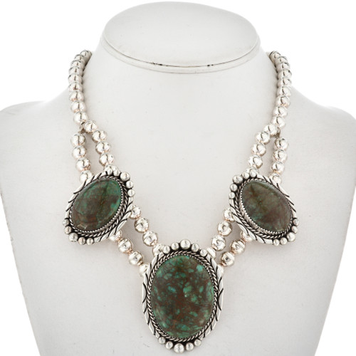 Emerald Valley Turquoise Navajo Necklace 16004