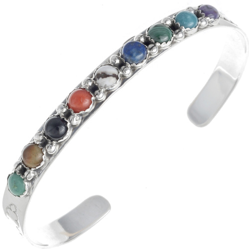 Gemstone Navajo Ladies Cuff Bracelet 24418