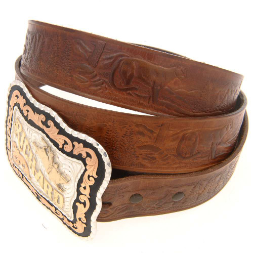 Hand Dyed Leather Belt 22351