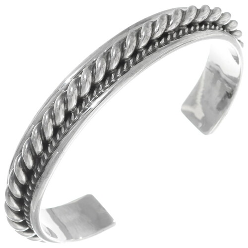 Navajo All Sterling Cuff Bracelet 25934