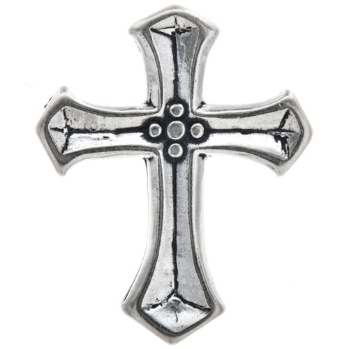 Sterling Silver Cross Charm 35443