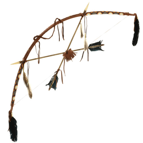 Indian Chief Style Bow Crossed Arrows 32994