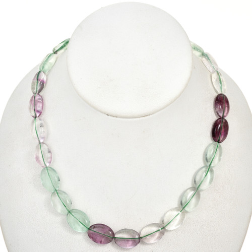 12mm by 16mm Fluorite Beads 16 inch Strand