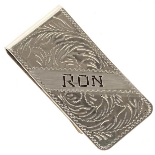 Custom Engraved Money Clip 24761