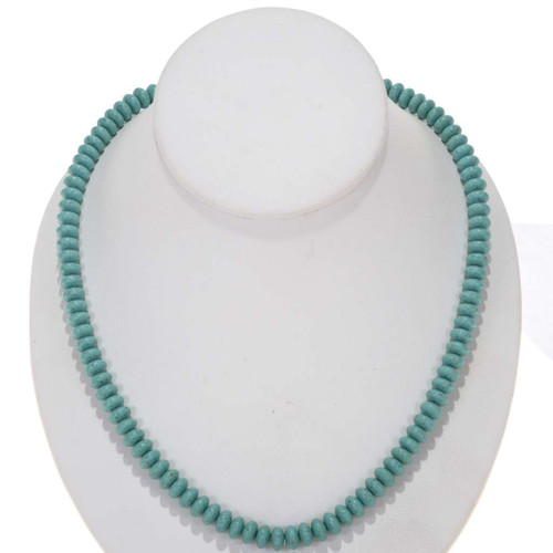 Real Turquoise Rondelle Beads 25489