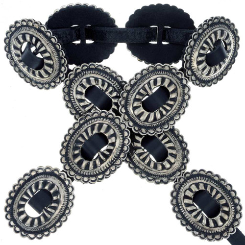 Hammered Silver Concho Belt 24366