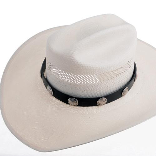Navajo Silver Coin Hatband 24272