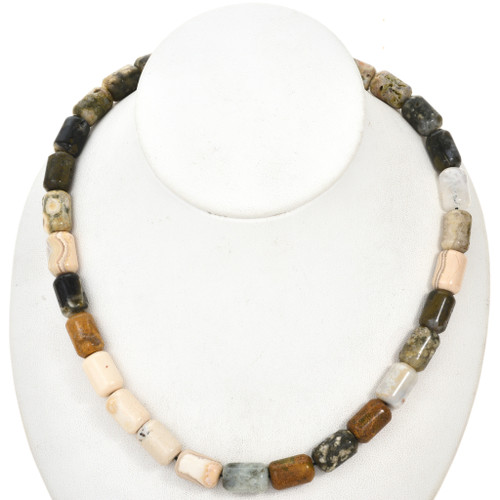 Picture Jasper Tube Beads 10mm x 15mm 0003