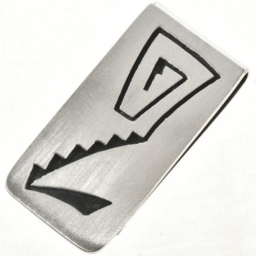 Overlaid Silver Navajo Money Clip 10139