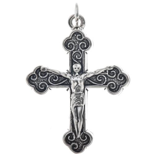Sterling Silver Crucifix Charm Pendant Charm Bracelet Necklace