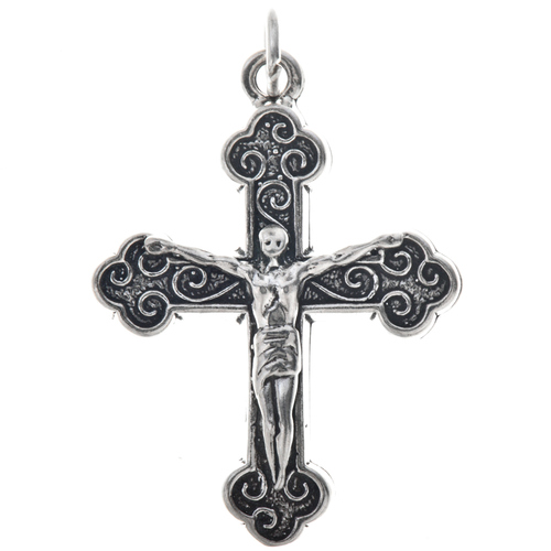 Sterling Silver Crucifix Charm 35442